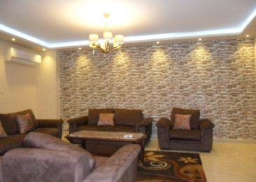 شقة مفروشة للايجار بجامعة الدول العربية 200م فندقية فرش جديد جدا